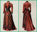 Front and back of black and red dress of Maria Feodorovna From ohsoromanov.tumblr.com-post-126690053806-tiny-librarian-a-black-and-red-gown-worn-by