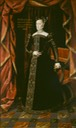 Full length portrait of Juana de Habsburgo in a gold-embroidered black dress (embajada española - Buenos Aires, Argentina) the lost gallery.jpg