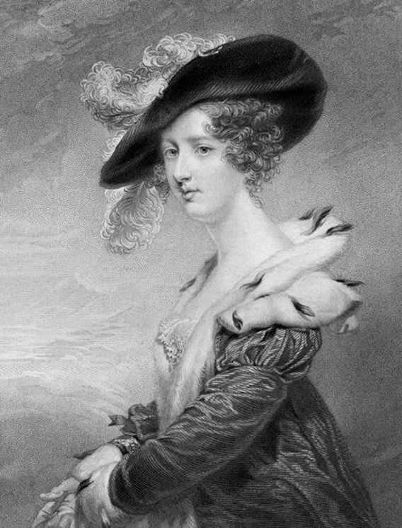 1824 (publication date) Georgiana Howard, Lady Dover lithograph by or after John Jackson From magnoliabox.com:art:658641:georgiana-howard-lady-dover-litho detint X 1.25