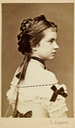 1871 Archduchess Gisela card by Ludwig Angerer