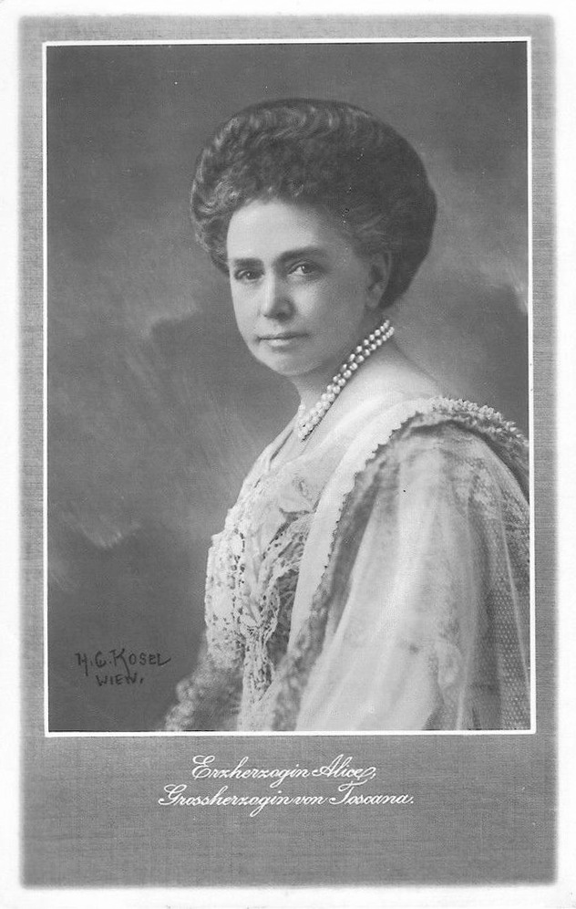 GRAND DUCHESS ALICE OF TUSCANY - Princess of Bourbon Parma From www.pinterest.com/olouvisyahoo/to-be-royal
