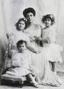 ca. 1910 (estimate based on ages of children) Grand Duchess Elena Vladimirovna with daughters Princesses Olga, Elizabeth, and Marina