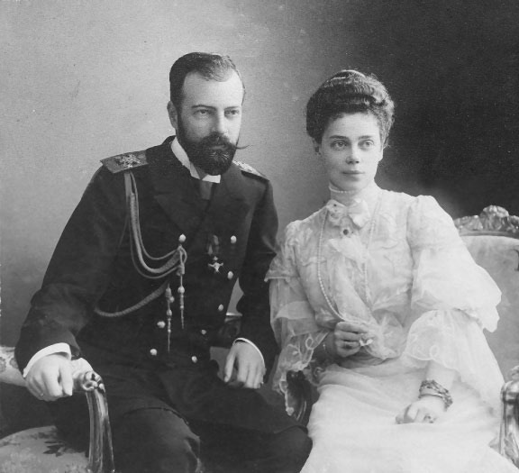 Grand Princess Xenia Alexandrovna and Grand Duke Alexander Mikhailovich APFxGrand Duchess Valeria 3Mar10