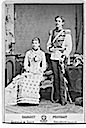 1881 Princess Victoria seated and Crown Prince Gustaf