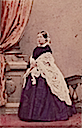 Hand colored carte de visite portrait of Queen Victoria, taken in February 1861 by Mayall