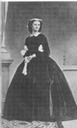 Princess Helene of Thurn und Taxis wearing a crinoline with unusual sleeves