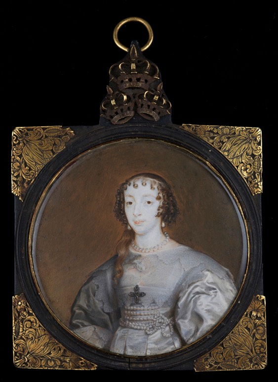 Henrietta Maria by Alexander Cooper (private collection) from www.historicalportraits.com trimmed