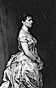 Henriette-Marie wearing a bustle dress