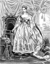 1838 Her Majesty Queen Victoria in royal robes
