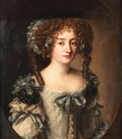 Hortense Mancini, Duchess of Mazarin, half-length, in a pale blue dress with blue and black bows attribued to Jacob Ferdinand Voet (auctioned by Bonhams) UPGRADE the lost gallery