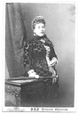 Princess Helena in floral patterned dress photographed by Bassano