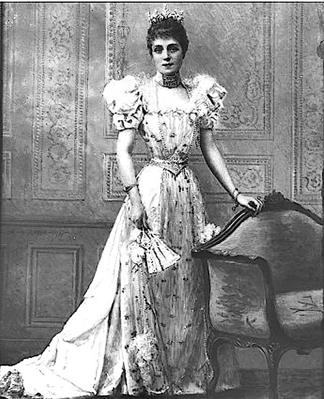 Infanta Eulalia in 1890s leg o mutton sleeve dress FDxMinnie 2Dec09