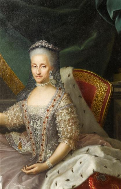 Infanta Maria Antonia Fernanda (1729-1785), Queen of Piedmont-Sardinia by Anton Mengs studio (Versailles) bodice and upper skirt Photo - Gerard Blot