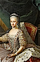 Infanta Maria Antonia Fernanda (1729-1785), Queen of Piedmont-Sardinia by Anton Mengs studio (Versailles) bodice and upper skirt