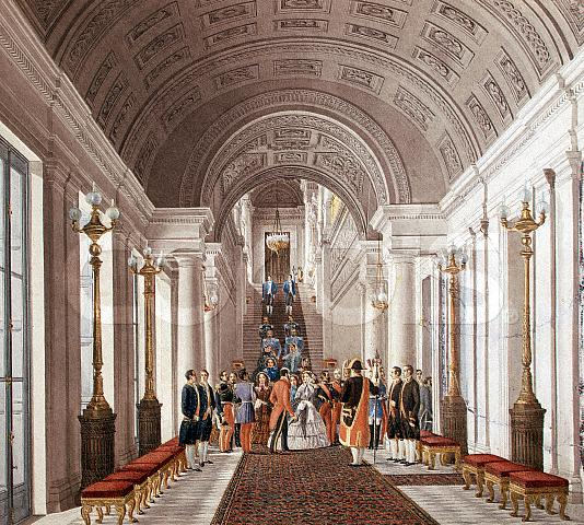 Empress Eugenie in a grand hall