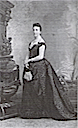 Isabel of Paris wearing a crinoline dress