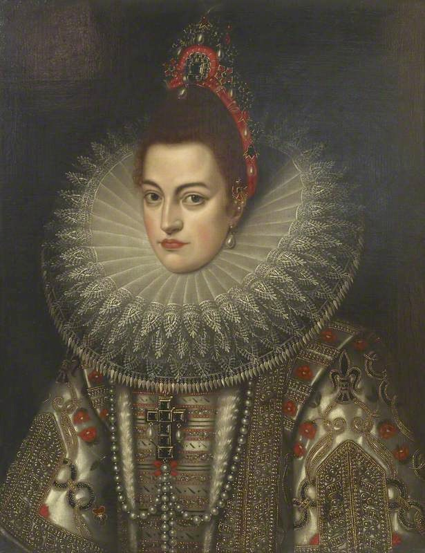 Isabella Clara Eugenia of Austria (1566–1633), Infanta of Spain by Frans Pourbus the younger (British Museum - London UK) bbc