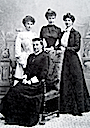 Isabelle with her daughters Louise, Hélène and Isabelle
