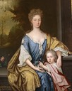 ca. 1702 (based on age of child) Jean Hay, Countess of Rothes with her eldest son John, Lord Leslie by John Baptiste Medina and his studio
