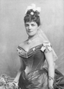 Jennie Jerome wearing a second bustle period dress