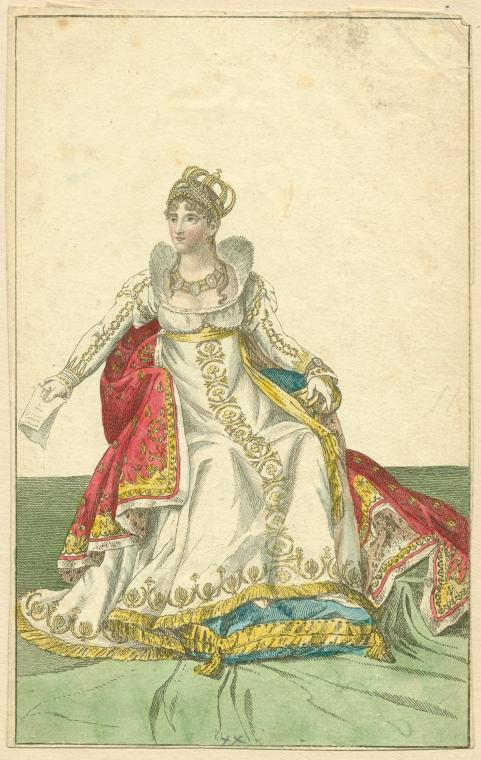 1804 Josephine on coronation day print after Jean-Baptiste Isabey