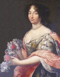 Julie d'Angennes attributed to Pierre Mignard (Hôtel de ville - Rambouillet, Île- de-France, France) From fr.topic-topos.com:julie-dangennes-rambouillet