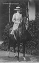 Kronprinzessin Cecilie on horse