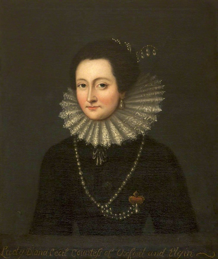 Lady Diana Cecil (1596-1654), Countess of Oxford & Elgin