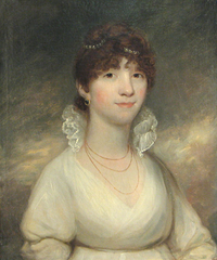 Lady in a white dress, said to be Lady Stanhope by circle of Sir William Beechey (auctioned by Bonhams)