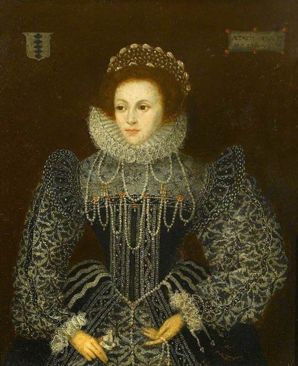 Lady Mary Grey (1545–1578) by ? (Chequers Court - Ellesborough, Buckinghamshire, UK) From bbc.co X 1.5