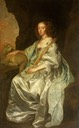 Lady Mary Villiers (1622–1685), Lady Herbert, Later Duchess of Lennox and Richmond, as Saint Agnes by Sir Anthonis van Dyck (Lacock Abbey, Fox Talbot Museum and Village - Lacock, near Chippenham, Wiltshire UK)