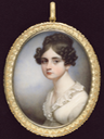 Lady Selina Meade (c.1793-1872), wearing white dress with frilled lace collar, her dark hair worn in a plaited bun and ringlets by ? (auctioned by Bonham's)