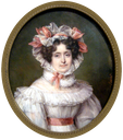 Lady wearing bonnet from family of Count Marie Gabriel Florent Auguste de Choiseul-Gouffier by ? (Leon Wilnitsky)