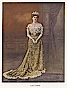 Lady Curzon wearing the Peacock Gown