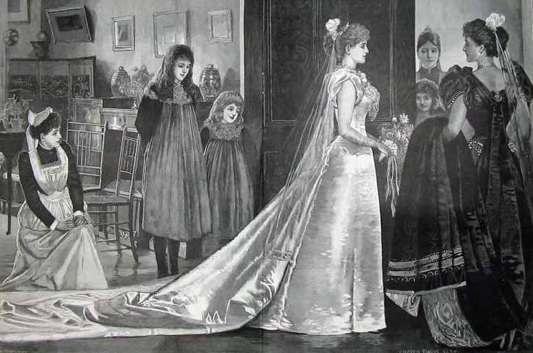 Late Victorian Debutante With Required 10 Foot Train