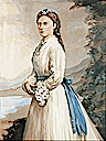 Princess Louise in late 1860s dress