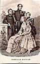 1848 (estimated) Queen Louise Marie, King Leopold I, and children print