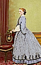 Princess Louise wearing a checkered dress