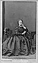 1864 Princess Louise wearing a middle crinoline era dress by Hills & Saunders
