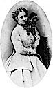 Princess Louise oval portrait with pet