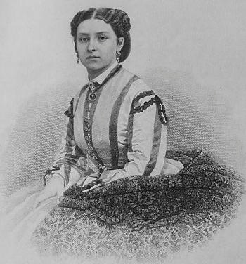 Print of Princess Louise with a lace shawl