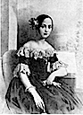 1842 Infanta Luisa Fernanda of Spain black and white print after Lopez y Portaña