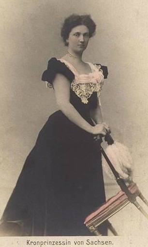 Luise of Austria wearing an A-line dress colorized