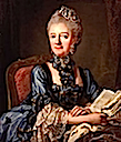 Luise Ulrike in blue by Lorens Pasch the Younger (location unknown to gogm)