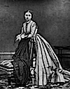 Princess Louise of Britain in vertical striped dress