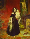 1840 Maria A. Bek and child by Karl Brullov (The State Tretyakov Gallery, Moskva)