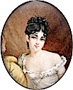 Madame Récamier by French Miniaturist middle of 19th century, after Francois Gérard (Leon Wilnitsky)