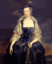Margaret, Countess of Orford wearing a Reubenesque costume by a follower of Herman van der Mijn (private collection) background altered