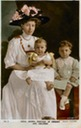 Margaret Daisy Connaught with children colorized card