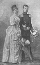 1890 Margarethe & Albert of Thurn and Taxis walking pose by Koller Károly
